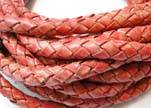 Fine Braided Nappa Leather Cords-8mm-DI PB 34 vintage red closer