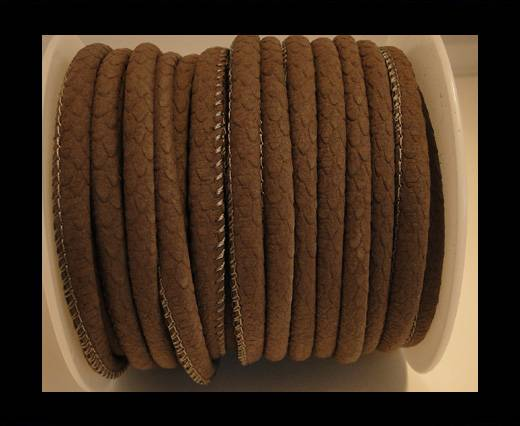 Buy faux nappa leather 6mm Vintage style- Mokka at wholesale prices
