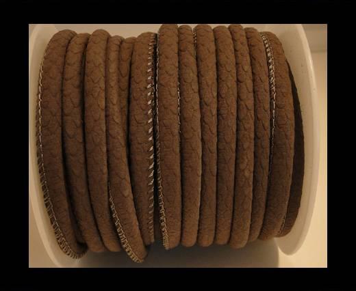 faux nappa leather 6mm Vintage style- Mokka