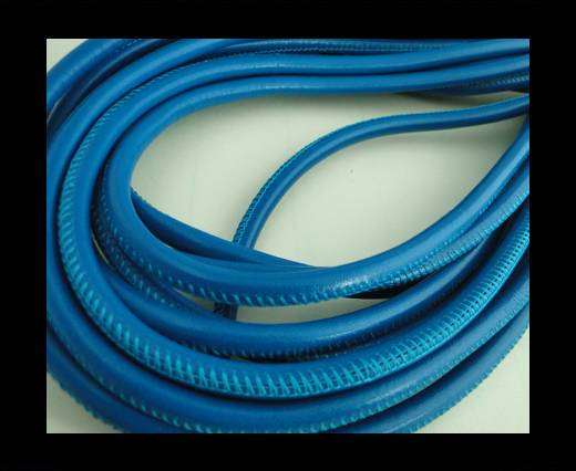 Buy Round stitched nappa leather cord Bermuda Blue-4mm at wholesale prices