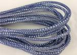 Round stitched nappa leather cord Breed Style-Pastel Blue -4mm