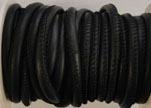 Round stitched nappa leather cord Dark Blue-4mm