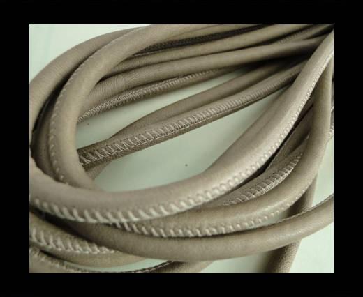 Round stitched nappa leather cord Dark Beige-6mm