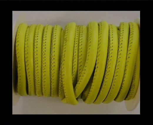 Round stitched nappa leather cord Flashy Yellow-6mm