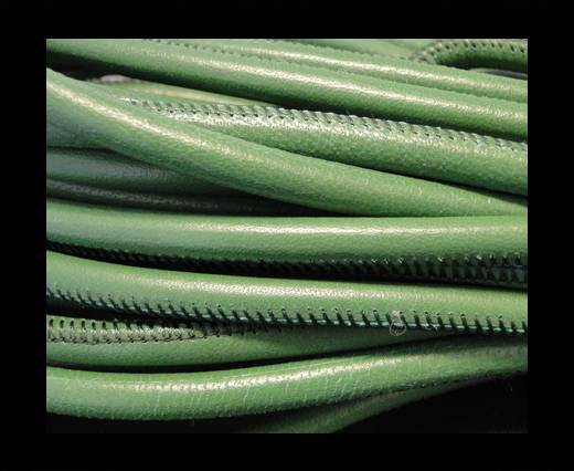 Round stitched nappa leather cord Green-4mm