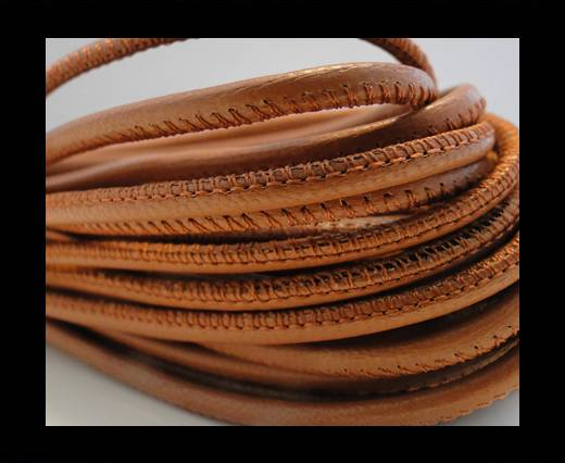 Round stitched nappa leather cord Brick-2,5mm