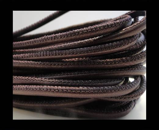 Round stitched nappa leather cord Light Violet-2,5mm