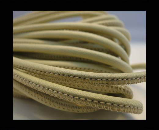 Round stitched nappa leather cord Light Green-2,5mm