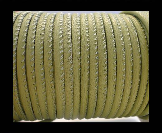 Round stitched nappa leather cord Light Olive-2,5mm