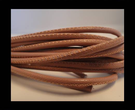 Round stitched nappa leather cord Mild Pink-2,5mm