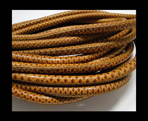 Buy Fine Nappa Leather-Karung snake - Brown-6mm at wholesale prices