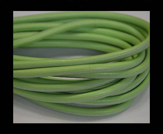 Round stitched nappa leather cord Apple Green-6mm