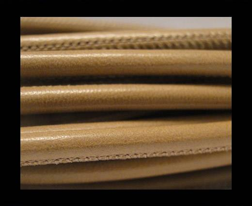 Round stitched nappa leather cord light Taupe-4mm