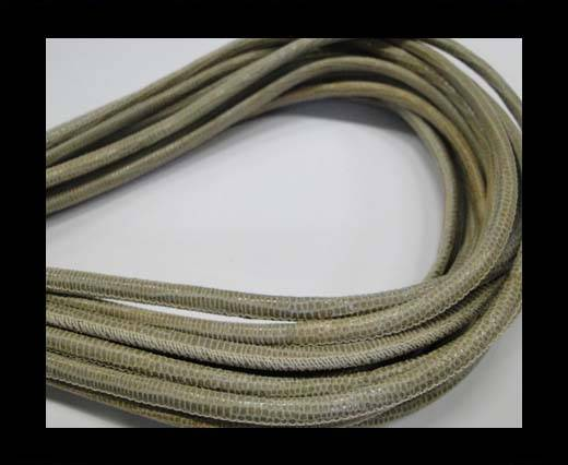 Buy Round stitched nappa leather cord Lizard-Style -Light Sand-4mm at wholesale prices