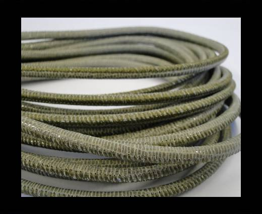 Buy Fine Nappa-Lizard style-4mm-olive + paillettes transparent at wholesale prices
