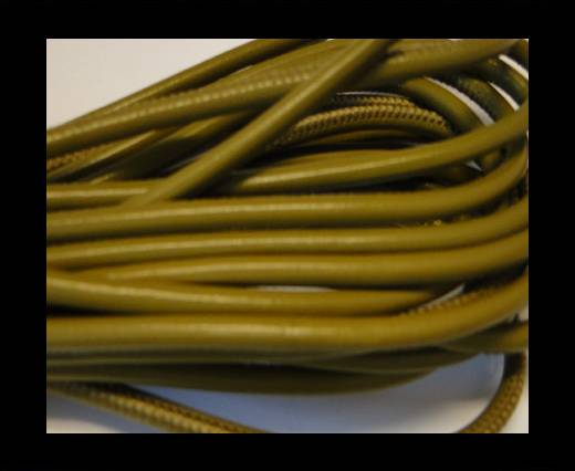 Round stitched nappa leather cord Pistachio Green-4mm