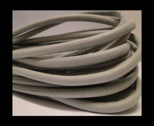 Buy Round stitched nappa leather cord Grey-4mm at wholesale prices