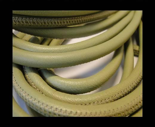 Round stitched nappa leather cord Light Khakhi-6mm