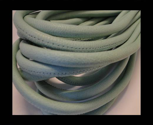 Round stitched nappa leather cord Light Mint-6mm