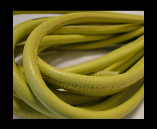 Round stitched nappa leather cord Lime-6mm