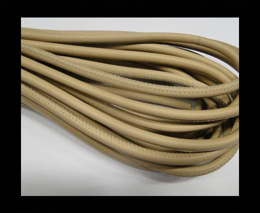 Round stitched nappa leather cord Sand-6mm
