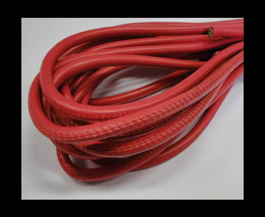Round stitched nappa leather cord Fuchsia-6mm