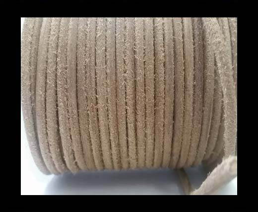 Round stitched nappa leather cord SE Hairy Natural-6mm