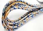 Round stitched nappa leather cord Scotish Print 1-4mm