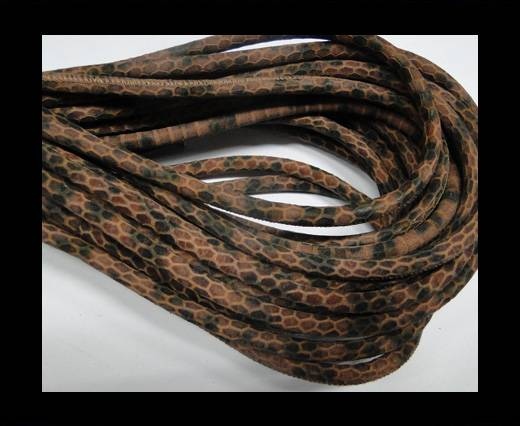Buy Fine Nappa-Snake-style-Ocher Brown Black-6mm at wholesale prices