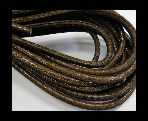 Buy Fine Nappa-Snake-style-Shiny Brown-6mm at wholesale prices