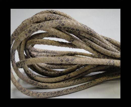 Buy Round stitched nappa leather cord Snake style- Vintage Sand -4mm at wholesale prices