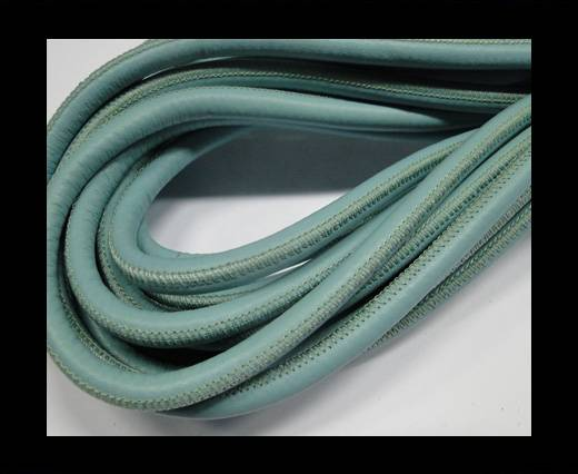 Round stitched nappa leather cord Light Blue-6mm