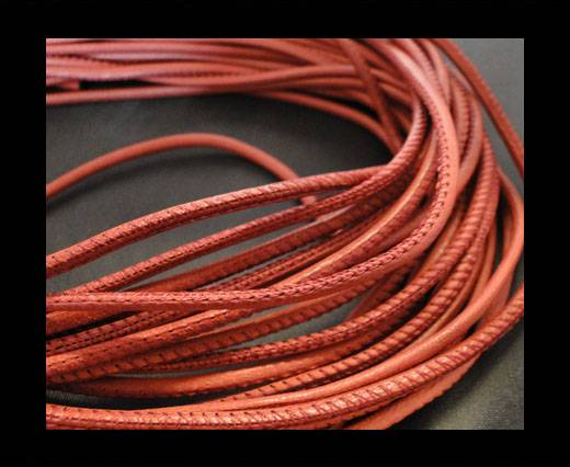 Round stitched nappa leather cord Wine Red-2,5mm