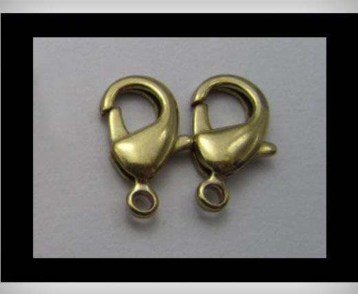 Zamak Lobster Claw Clasps-FI-7001 - Antique Gold - 15mm
