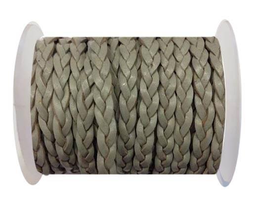 Choti-Flat 3-ply Braided Leather --SE-Grey-5MM