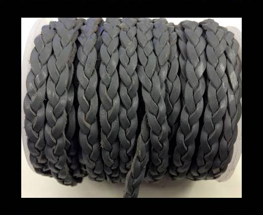 Choti-Flat 3-ply Braided Leather Metallic-SE-Vintage Dark Grey-5