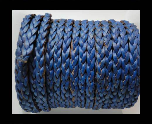 Flat 3-ply Braided Leather-SE-B-Dark Blue-3MM