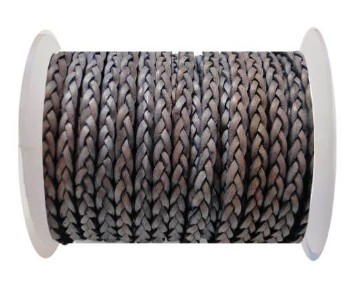 Flat 3-ply Braided Leather-SE-DB-13-3MM