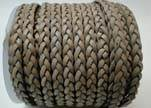 Flat 3-ply Braided Leather-SE-FPB-Grey-3MM