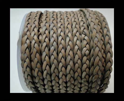 Buy Flat 3-ply Braided Leather-SE-FPB-Grey-3MM at wholesale prices