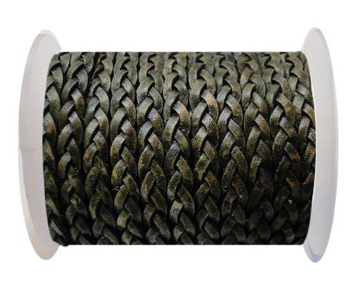 Flat 3-ply Braided Leather-SE-PB-11-3MM