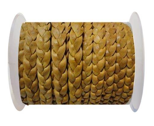 Flat 3-ply Braided Leather-SE-BC-10-10MM