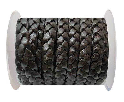 Flat 3-ply Braided Leather-SE-Coffe Brown-10MM