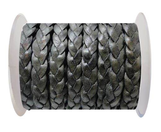 Flat 3-ply Braided Leather-SE-DB-14-10MM
