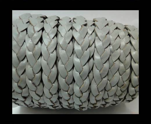 Buy Flat 3-ply Braided Leather-SE-Light Grey-10MM at wholesale prices