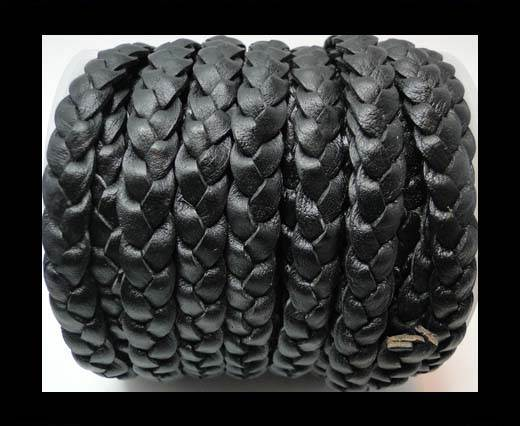 Buy Flat 3-ply Braided Leather-SE-Vintage Black-10MM at wholesale prices