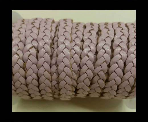 Choti-Flat 3-ply Braided Leather -SE Baby Pink