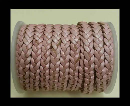 Choti-Flat 3-ply Braided Leather -SE M.Pink