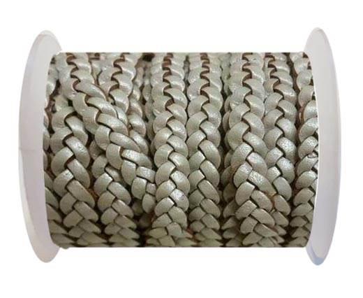 Choti-Flat 3-ply Braided Leather -SE M.Silver