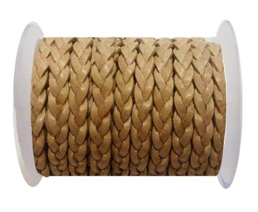 Choti-Flat 3-ply Braided Leather -SE R Natural